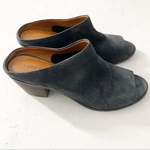 Lucky Brand blue Organza leather Mule Sandal 9